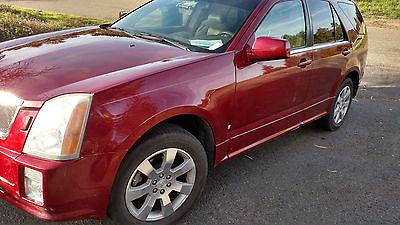 Cadillac : SRX Sport Utility 4-Door 2006 cadillac srx red 7 seats pano roof