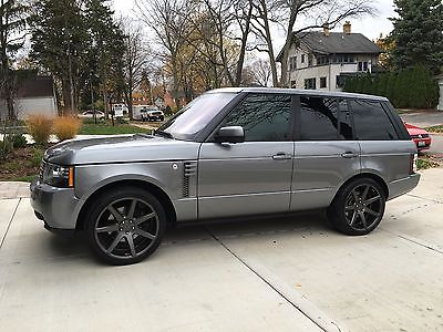 Land Rover : Range Rover HSE LUX 2012 range rover hse lux package with custom 22 vossen rims in charcoal