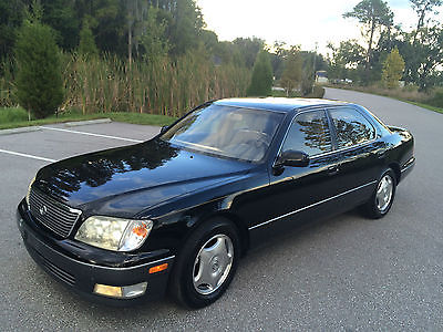 Lexus : LS LS400 - Extra Clean 2000 lexus ls 400 black v 8 automatic sunroof leather loaded cold a c