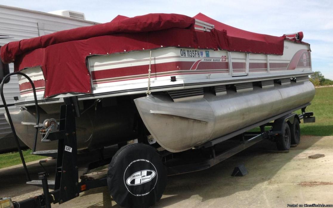25 ft pontoon fishing barge
