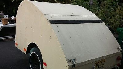 Vintage Teardrop Trailer Aluminum 1973 heavy duty suspension,Camper,tear drop