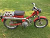 1971 Honda Trail 90 and Two Yerf Dog Go Carts