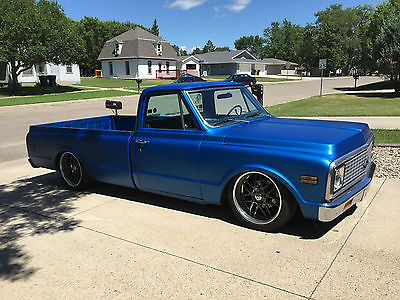 Chevrolet : C-10 Custom 10 1972 chevy c 10 air suspension forgestar wheels 350 ci