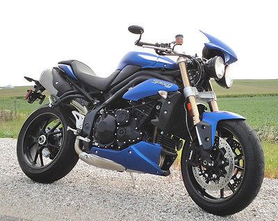 Triumph : Speed Triple 2014 triumph speed triple 1050 matte blue bruiser new bike w 2 year warranty