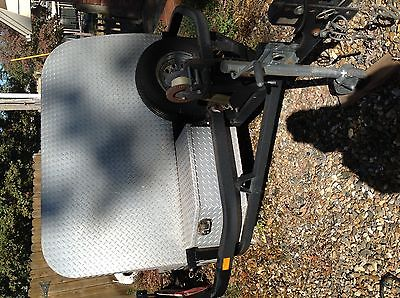 Baxley 1-3 open motorcycle trailer