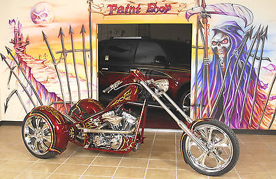 Custom Built Motorcycles : Chopper Chopper Kings Custom * GOLD KING TRIKE * Polished Harley 95