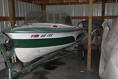 1957 Larson 14' Thunder Hawk JR Runabout 25 HP Mercury Outboard Green Classic
