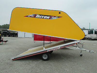 NEW TRITON 12' ENCLOSED TILT SNOWMOBILE TRAILER * PRICED TO SELL * DR TRAILER