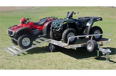 BRAND NEW TRITON 2-PLACE ATV TRAILER  INCLUDES RAMP   Lifetime Deck Warranty
