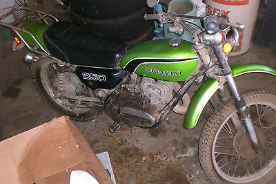 Kawasaki : Other 1974 kawasaki f 11 a 250 classic enduro amazing one owner rare sale 2184 miles