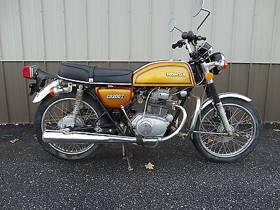 Honda : CB Vintage 1974 Honda CB200 T Gold with Title