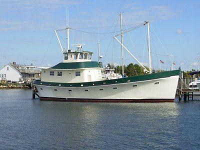 63' Custom Fiberglass Trawler Yacht