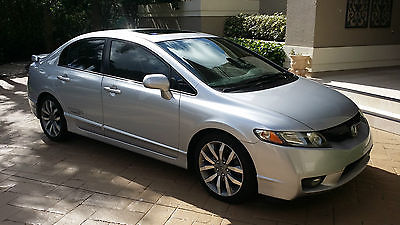 Honda  Civic SI 2009 2010 2008 honda civic si sedan silver black