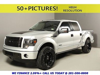 Ford : F-150 2011 PLATINUM LIFTED SUNROOF LEATHER CREW NAV 2011 ford f 150 platinum sunroof nav rearcam heat cool seats leather lifted crew