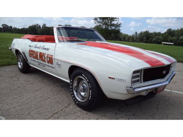 Chevrolet : Camaro 1969 chevy camaro rs ss pace car convertible