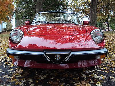 Alfa Romeo : Spider Graduate Convertible 2-Door 1987 alfa romeo spider graduate all original survivor show room ready