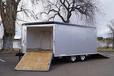 8.5 X 12'' + 5' V  Nose Enclosed Deckover Snowmobile ATV Trailer 2 Place 2 Ramps