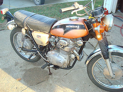 Honda : CL 1971 honda cl 350 low miles great cafe racer project
