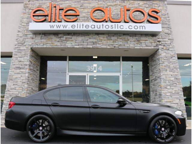 BMW : M5 4dr Sdn BMW M5 Matte Metallic Black NAVIGATION Soft Close Doors SURROUND VIEW Like New