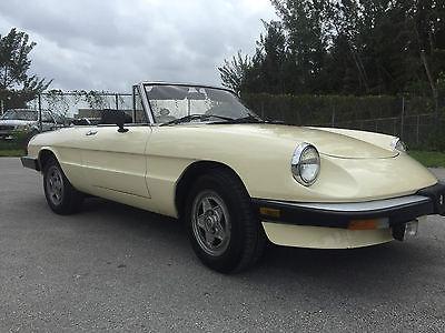 Alfa Romeo : Spider veloce 1984 alfa romeo spider veloce convertible 2 door 2.0 l