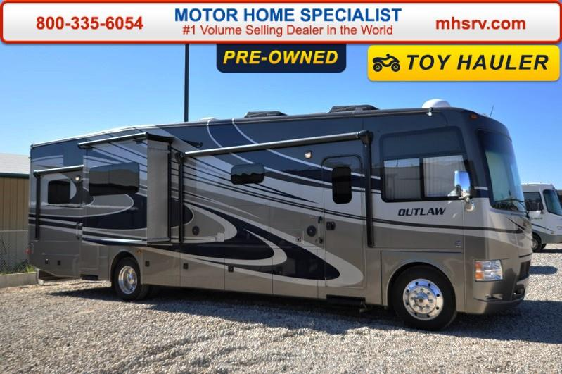 Thor motor coach outlaw toy hauler w2 slides rvs for sale for Motor coaches with 2 bedrooms