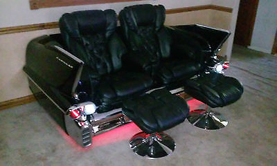 Cadillac : Other chrome 1958 cadillac reclining car couch for man cave car sofa retro couch