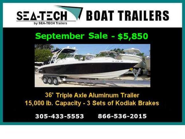 2016 SEA-TECH Trailers Triple Axle Aluminum Trailers