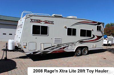 2008 Rage'n Xrtra Lite XSS 2400 Toy Hauler Travel Trailer Rv Cargo Camper Used