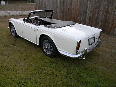 Triumph : Other Black 1967 triumph tr 4 a irs wire wheels with overdrive