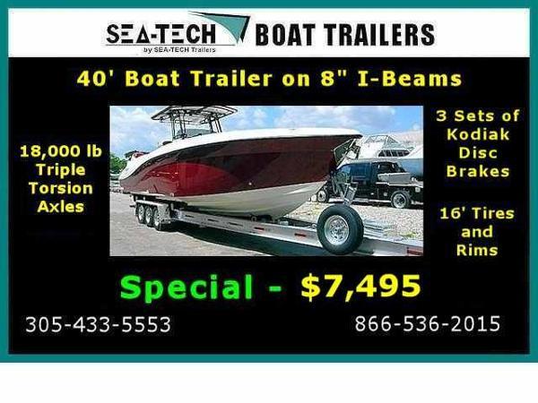 2016 SEA-TECH Triple Axle Aluminum Trailers