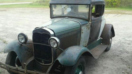 Ford : Model A Coupe 1931 ford model a coupe banger scta barn find patina driver flathead all steel