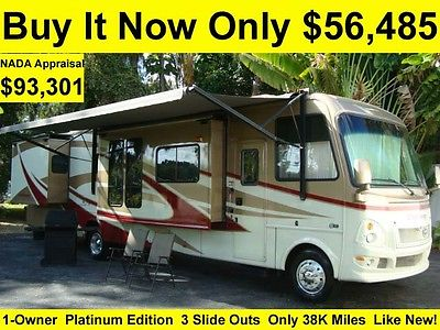 2008 DAMON CHALLENGER PLATINUM EDITION 37FT CLASS A RV FULL BODY PAINT 3 SLIDES