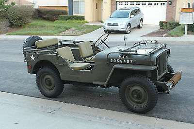 Willys : MB 1944 willys mb ww 2 jeep wwii restored not ford gpw 1941 1942 1943 1945