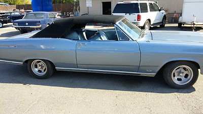 Ford : Fairlane 500 1966 ford fairlane 500 convertible factory 390 auctual 90 k miles black plate