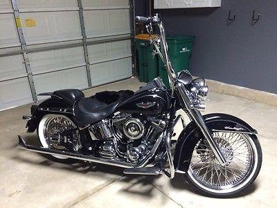 Harley-Davidson : Softail 2011 harley davidson black softail deluxe customized