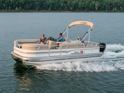 2015 SUNTRACKER PARTY BARGE 22 DLX TWO STROKE 115 ELPT P