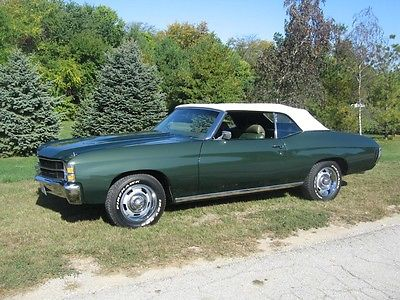 Chevrolet : Chevelle 2 door 1971 chevrolet chevelle convertible matching engine trans total restoration