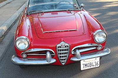 Alfa Romeo : Spider 2 Door 1964 alfa romeo giulia giulietta 1600 101 spider 5 speed