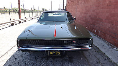 Dodge : Charger R/T 440 Magnum 1968 dodge charger r t original ca car black plates original paint color match