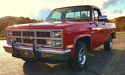 GMC : Sierra 1500 CLASSIC SHORT BED FLEETSIDE PICKUP 1984 gmc c 1500 sierra classic short bed fleetside pickup completely restored
