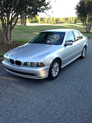 BMW : 5-Series Premium Package 2002 bmw 525 i silver gray low miles 94 900 clean carfax excellent shape