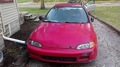 Honda : Civic DX Hatchback 3-Door 1995 honda civic dx hatchback red 5 speed manual