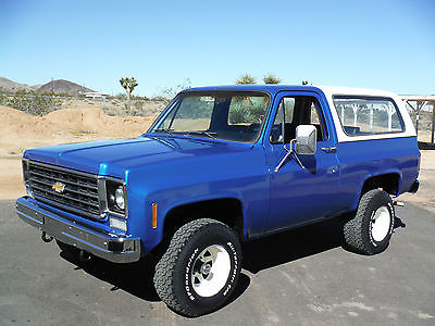 Chevrolet : Blazer K5 1976 k 5 blazer 4 x 4 california truck new interior paint runs drives great