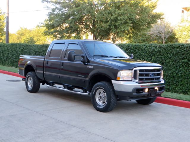 Ford : F-250 4X4 DIESEL 1 owner lariat crew cab short bed 7.3 l fx 4 low miles very clean tx truck
