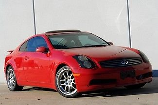 Infiniti : G w/Leather Clean Carfax Leather Automatic  Steering Controls Sunroof Power Window and Locks