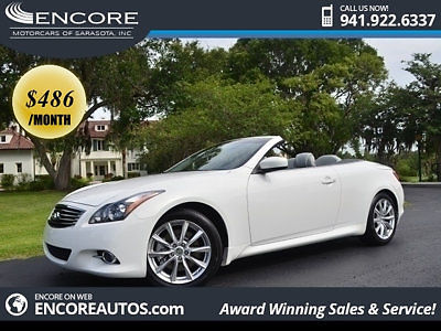 Infiniti : G37 2013 infiniti g 37 convertible navigation cooled seats low miles factory warranty