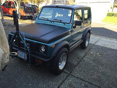 Suzuki : Samurai JX 1987 suzuki samurai jx hardtop 4 x 4 5 spd tow car low miles can tow be towed