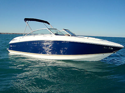 Cobalt 232/42 Under100hrs Bravo3 Loaded Underwater LED Custom Teak 55+mph Mint