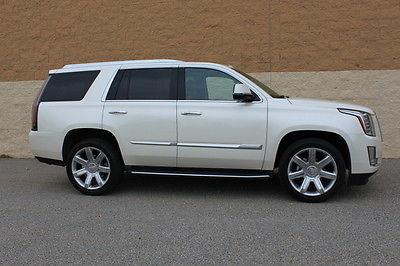 Cadillac : Escalade Luxury Sport Utility 4-Door 2015 cadillac escalade luxury sport utility 4 door 6.2 l premium pearl white 4 wd