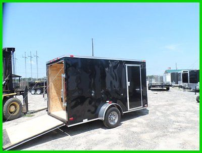 2015 Cynergy v nose 6x12 2' v enclosed cargo motorcycle trailer ramp door New